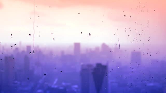 Rain drop on the window video