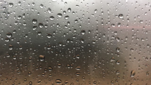 Rain drop with fog outside the car background