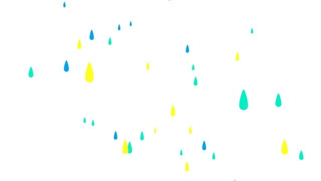 Regendruppels op witte achtergrond video