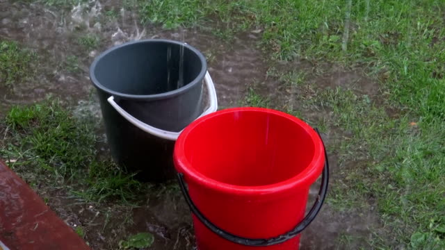 Rain falling in buckets video