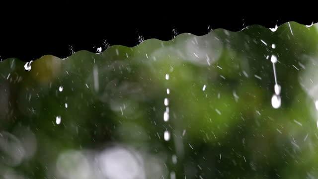 Rain Falling on Roof. video