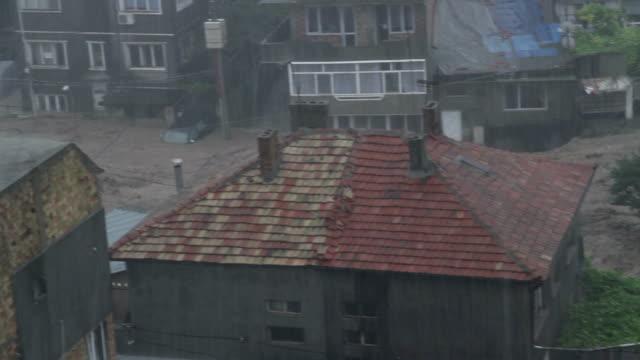 ブルガリアの雨や洪水 - ダメージ点の映像素材/bロール