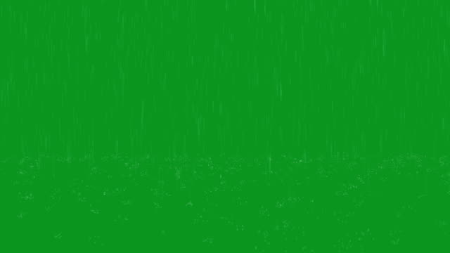 Rain Green Screen Loop video