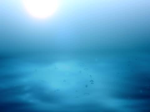 Rain in the mystic water. video