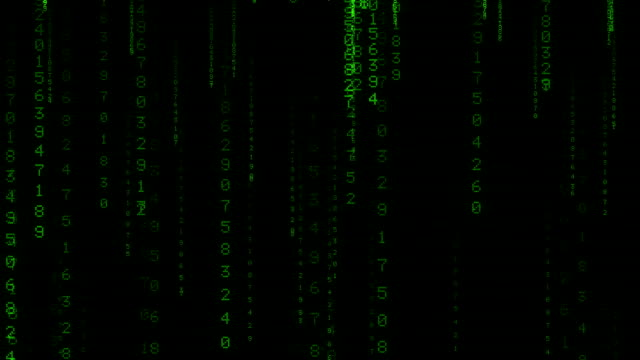 rain of green numbers animated background v1 - шифрование стоковые видео и кадры b-roll