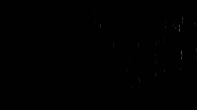 Rain on black video