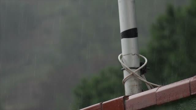 Rain on the terrace tiles