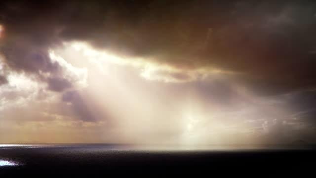 Rain over the ocean video
