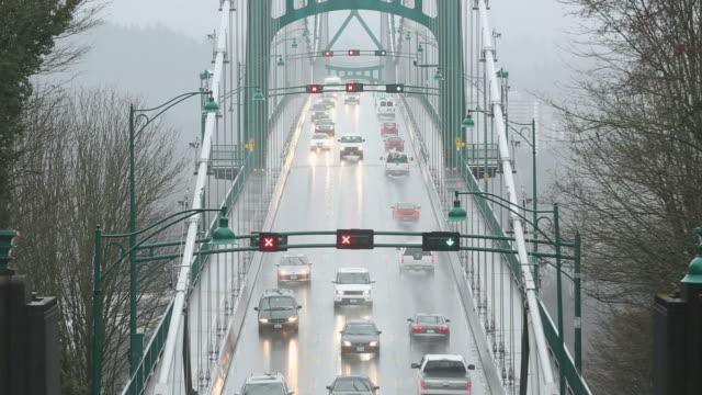 Rain Storm, Lions Gate Bridge video