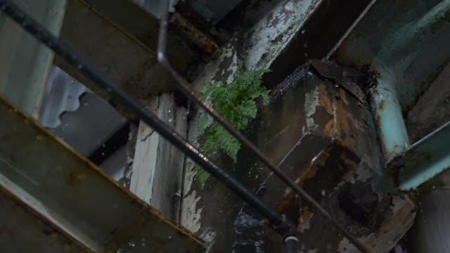 スローモーションでポタポタと雨 - 錆びている点の映像素材/bロール
