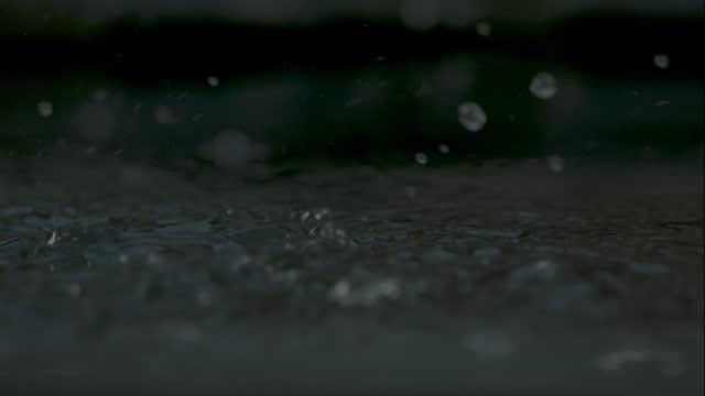 Rain Water Slow Motion Downpour video