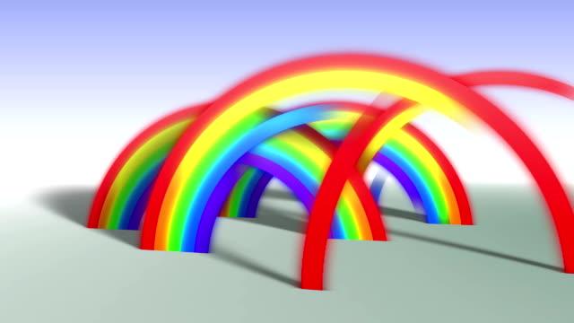 Regenbogen abstrakte Kunst – Video