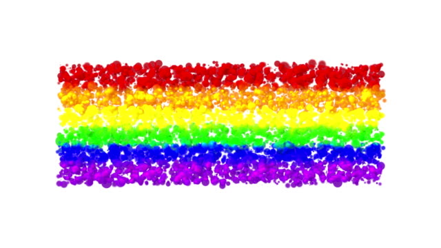 LGBT rainbow background, a lot of color bubbles. video