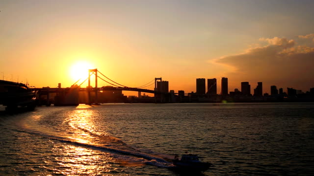 レインボーブリッジの夕日 ビデオ