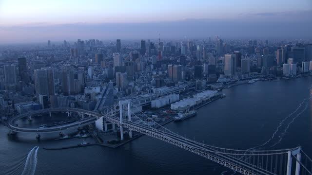 stockvideo's en b-roll-footage met rainbow bridge overdag - tokio kanto