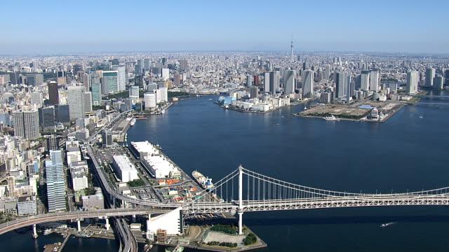 レインボー ブリッジの日時間 - 東京タワー点の映像素材/bロール