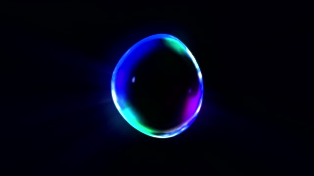 Rainbow bubbles on a dark background, Loop, video