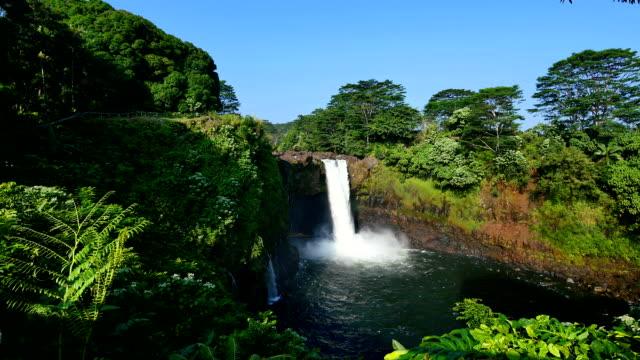 レインボーフォールズ、大きな島ハワイ ビデオ