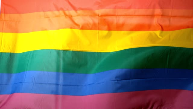 Rainbow flag blowing in the breeze video