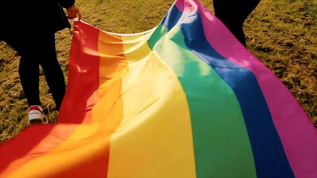 Rainbow flag,b-roll Rainbow flag,b-roll lgbtqi rights stock videos & royalty-free footage
