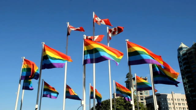 Rainbow Flags Flutter, Gay Pride, Vancouver video