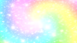 rainbow galaxy background and pastel colorthe unicorn in pastel sky video