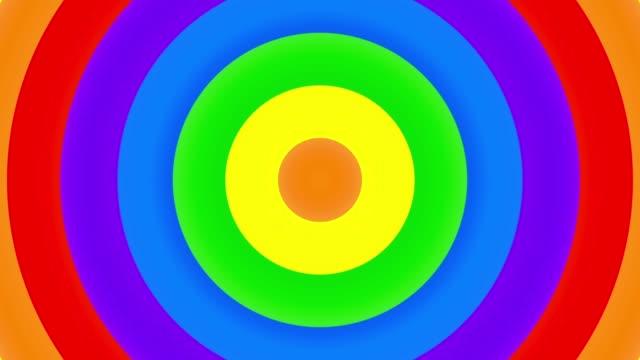 Rainbow Gay Flag Animation on white background.