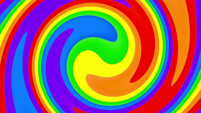 Rainbow Gay Flag Animation on white background. video