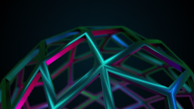 Rainbow glass composition, 3d rendering. Computer generated abstract background