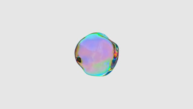 rainbow gradient abstract shape 3d rendering motion