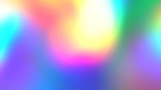 Rainbow Gradient. Holographic foil neon iridescent abstract motion background. Luminous surreal blurred moving gradient