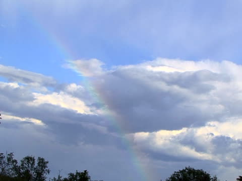 Rainbow in sky video