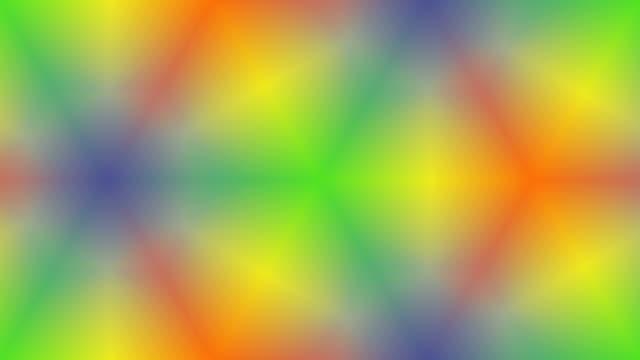 Rainbow kaleidoscopic background animation