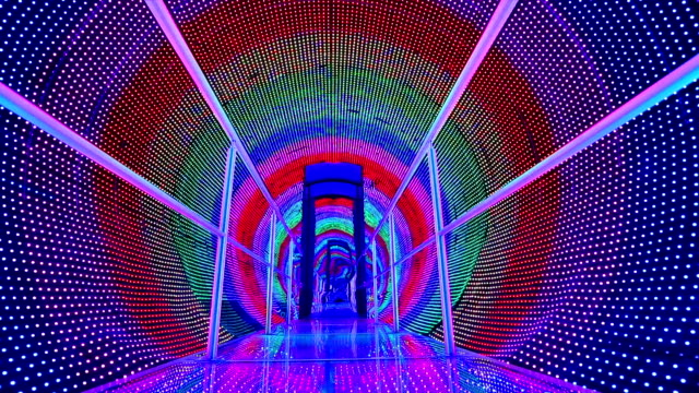rainbow light tunnel video