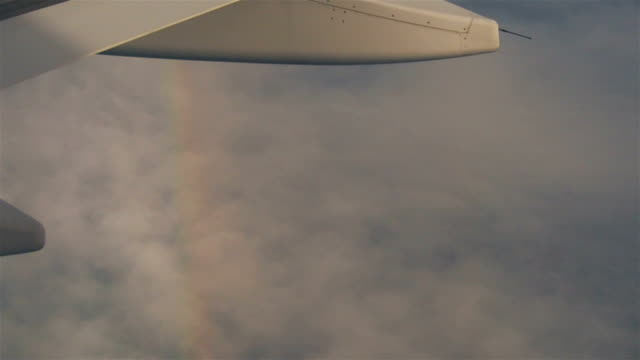 Rainbow near airplane video