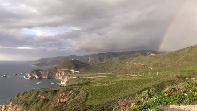 Rainbow Over Big Sur Coast video