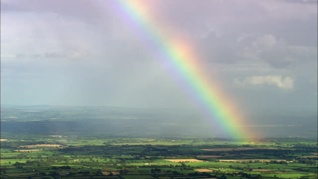Rainbow Over Cork County  - Aerial View - Munster, Cork, Ireland video