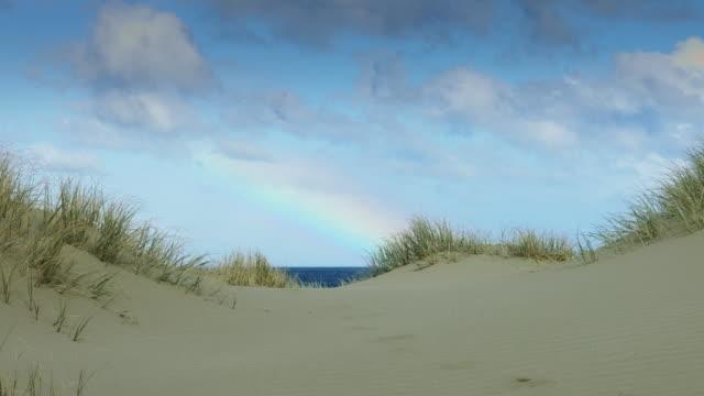 Rainbow Over Picturesque Beach video