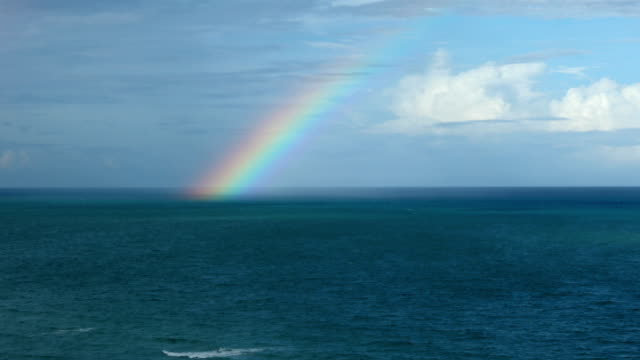 rainbow over the sea - vivid 4k video stock videos & royalty-free footage