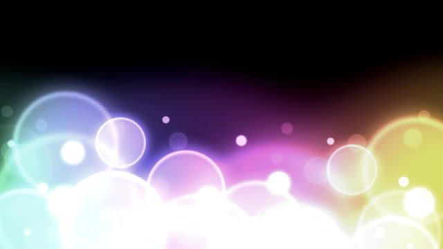 Rainbow Particles HD video