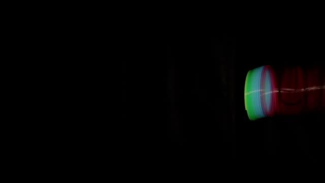 arcobaleno avvolgente su scala - molla video stock e b–roll