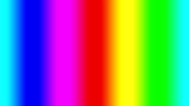 무지개 스펙트럼 그라데이션 빠르게 왼쪽으로 이동, 원활한 루프 - 언덕 스톡 비디오 및 b-롤 화면