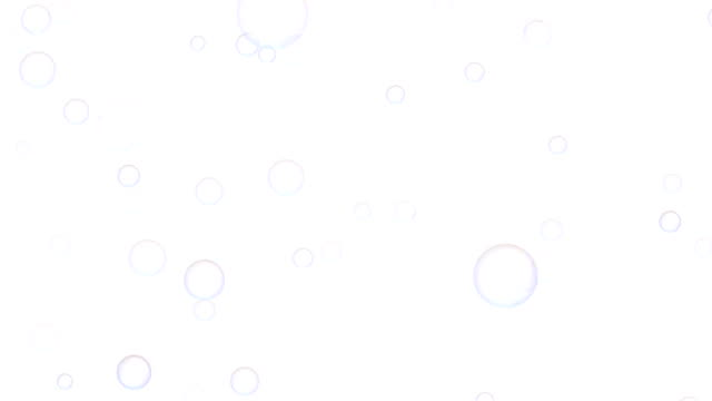 regenbogen transparenten seifenblasen isoliert auf weißem hintergrund. abstrakte 3d-illustration - schaum stock-videos und b-roll-filmmaterial