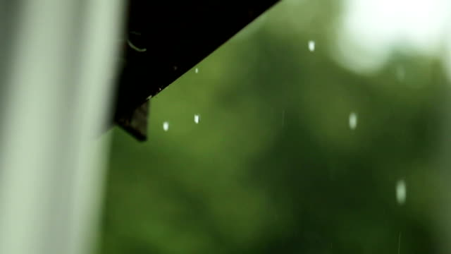 Raindrops falling from the roof. video