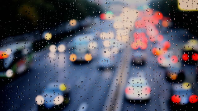 街雨の雨滴 ビデオ