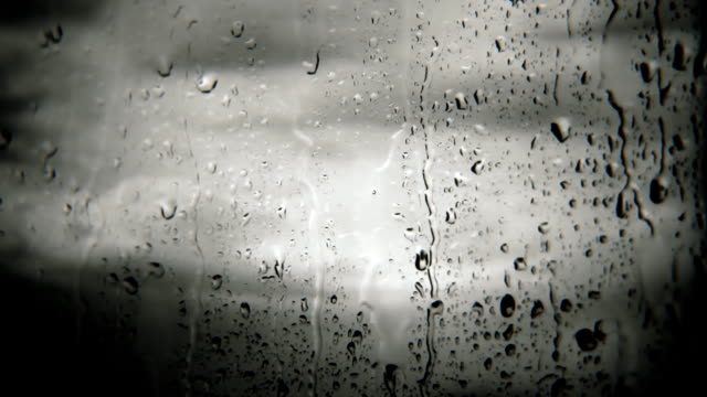 Raindrops on window (loopable) video