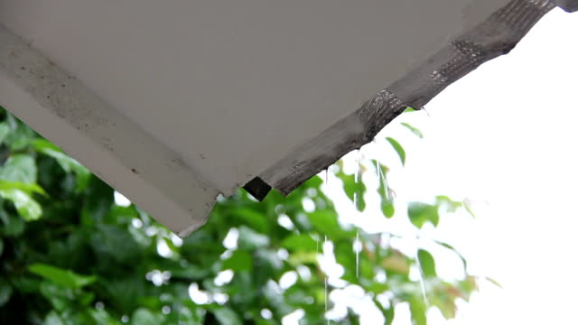 raining drop through eaves raining drop through eaves of house drenched stock videos & royalty-free footage