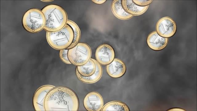 Raining Euro Coins Animation video