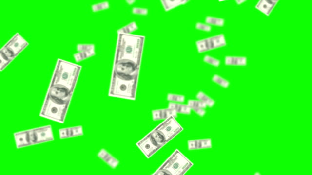 raining money on green screen background - grön färg bildbanksvideor och videomaterial från bakom kulisserna