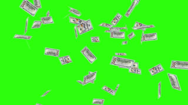 Raining New One Hundred Dollar Bills